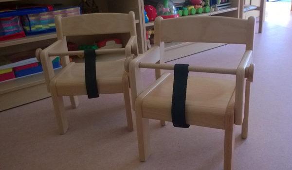 Verein beschhaft Kinderstühle für die Kleinsten