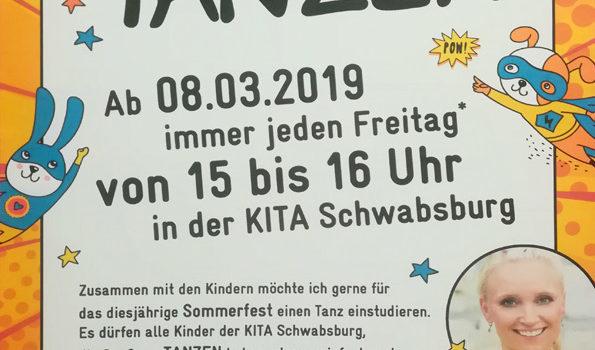 Tanzkurs für das Sommerfest - KiTa Schwabsburg