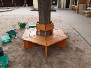 KiTa Schwabsburg - Holzbank für das Spielgelände