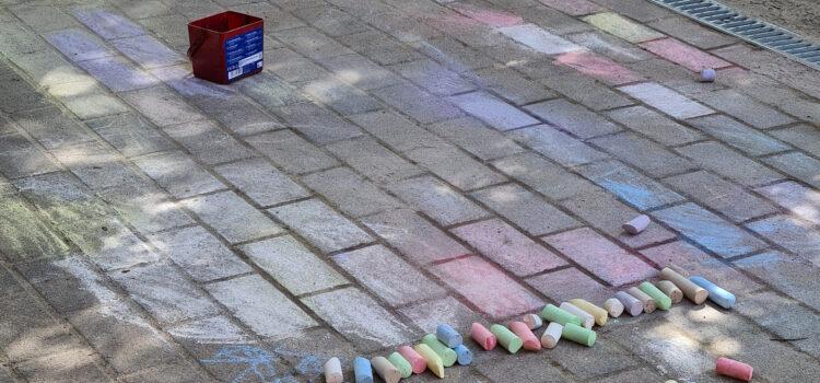Straßenmalkreide für die Kinder